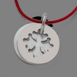 Médaille de baptême CROTZ en argent 925 millièmes de la collection de bijoux pour enfants MIKADO.