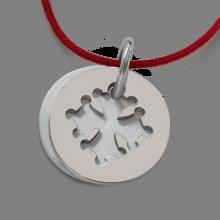 Medalla de bautismo CROTZ de plata 925 milésimas de la colección de joyas para niños MIKADO.