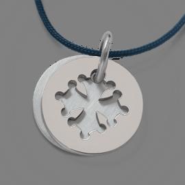 Médaille de baptême CROTZ en or blanc 750 millièmes de la collection de bijoux pour enfants MIKADO.