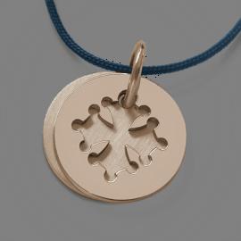 Medalla de bautismo CROTZ en oro rosa 750 milésimas de la colección de joyas para niños MIKADO.