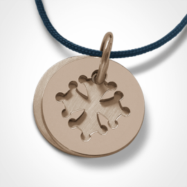 CROTZ pendant in 750 pink gold by the jewellery collection for children MIKADO.
