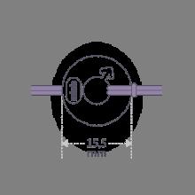 Dimensiones de la pulsera DISCO BOY de la colección de joyería infantil MIKADO.