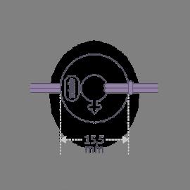 Dimensions of the DISCO BOY bracelet.
