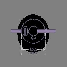 Dimensiones de la pulsera DISCO GIRL de la colección de joyería infantil MIKADO.