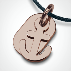 POPEYE anchor pendant in 750 pink gold by the jewellery collection for children MIKADO.