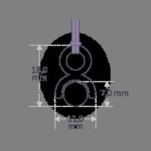 Dimension du pendentif ROLLING STONE de la collection de bijoux pour enfants MIKADO.