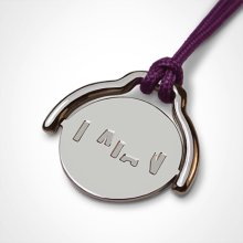 ENIGMA pendant in 750 white gold by the jewellery collection for children MIKADO.