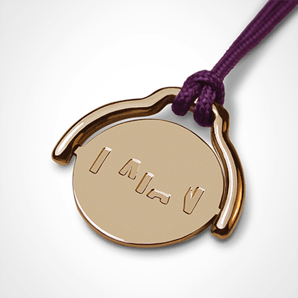 ENIGMA pendant in 750 yellow gold by the jewellery collection for children MIKADO.