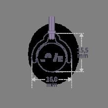 Dimensions du pendentif mobile ENIGMA de la collection de bijoux pour enfants MIKADO.