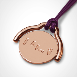 ENIGMA pendant in 750 pink gold by the jewellery collection for children MIKADO.