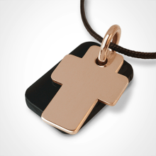 GOSPEL pendant in 750 yellow gold and natural horn by the jewellery collection for children MIKADO.