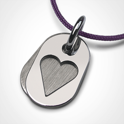 CORAZON pendant in 750 white gold by the jewellery collection for children MIKADO.