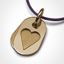 CORAZON pendant in 750 yellow gold by the jewellery collection for children MIKADO.