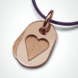 CORAZON pendant in 750 pink gold by the jewellery collection for children MIKADO.