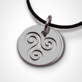 TRISKEL pendant in 925 sterling silver by the jewellery collection for children MIKADO.