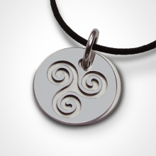 TRISKEL pendant in 750 white gold by the jewellery collection for children MIKADO.