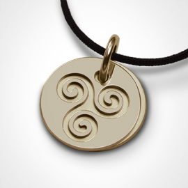 TRISKEL pendant in 750 yellow gold by the jewellery collection for children MIKADO.