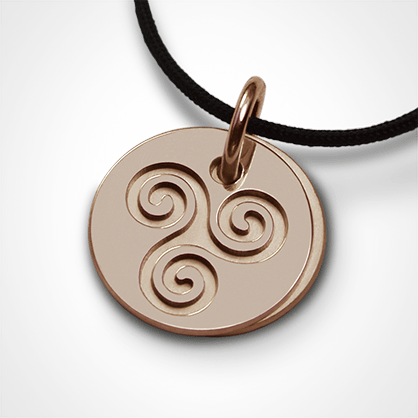 TRISKEL pendant in 750 pink gold by the jewellery collection for children MIKADO.