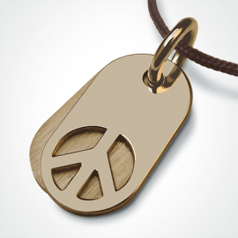 WOODSTOCK pendant in 750 yellow gold by the jewellery collection for children MIKADO.