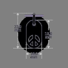 Dimensions du pendentif de baptême WOODSTOCK de la collection de bijoux pour enfants MIKADO.