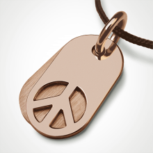 WOODSTOCK pendant in 750 pink gold by the jewellery collection for children MIKADO.