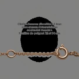 Chaîne jaseron du bracelet BABY BOY en or rose 750 millièmes de la collection de bijoux pour enfants MIKADO