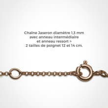 Chain of the bracelet BABY BOY in pink gold 750 thousandths of the collection of jewels for children MIKADO