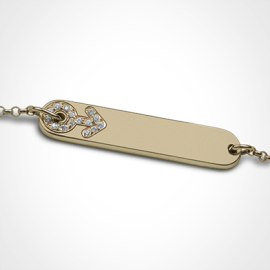 BABY STAR BOY bracelet in yellow gold 750 thousandths and diamonds from the MIKADO children's jewellery collection