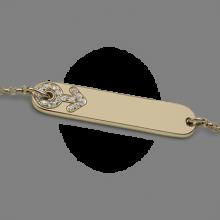 Brazalete BABY STAR BOY en oro amarillo 750 milésimas y diamantes de la colección de joyería infantil MIKADO