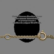 Chaîne jaseron du bracelet BABY STAR GIRL en or jaune 750 millièmes de la collection de bijoux pour enfants MIKADO