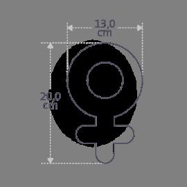 Dimensions du doudou SWEETGIRL de la collection pour enfants MIKADO.