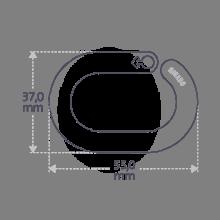 Dimensiones del servilletero MIAM BOY en plata de ley.