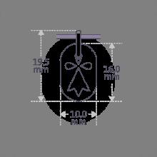 Dimensiones de la medalla de bautismo ERMINI de la colección de joyas infantiles MIKADO.
