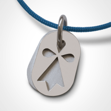 ERMINI pendant in 18k white gold by the jewellery collection for children MIKADO.
