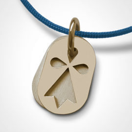ERMINI pendant in 18k yellow gold by the jewellery collection for children MIKADO.