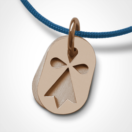 ERMINI pendant in 18k pink gold by the jewellery collection for children MIKADO.