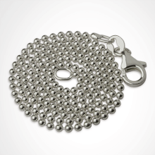 Bead necklace in silver from the children's jewellery collection MIKADO.