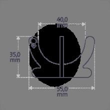 Dimensions du coquetier COCO BOY de la collection de bijoux pour enfants MIKADO.