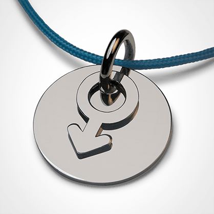 Christening pendant I AM A BOY made of 925 sterling silver and ocean cord from the MIKADO children's jewellery collection.