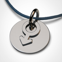 I AM A BOY pendant in 750 white gold by the jewellery collection for children MIKADO.