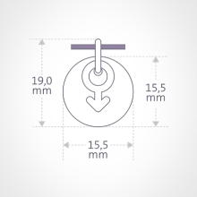 Dimensions of the I AM A BOY pendant from MIKADO