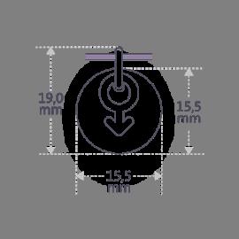 Dimensiones del colgante de bautizo SOY UN NIÑO de la colección de joyería infantil MIKADO.