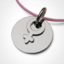 I AM A GIRL pendant in 750 white gold by the jewellery collection for children MIKADO.