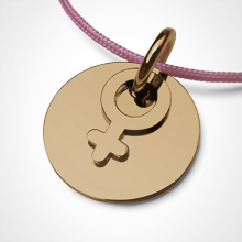 I AM A GIRL pendant in 750 yellow gold by the jewellery collection for children MIKADO.