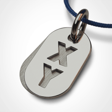 GENETIX BOY pendant in 750 white gold by the jewellery collection for children MIKADO.