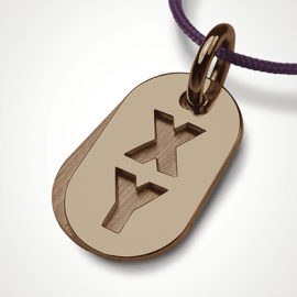 GENETIX BOY pendant in 750 yellow gold by the jewellery collection for children MIKADO.