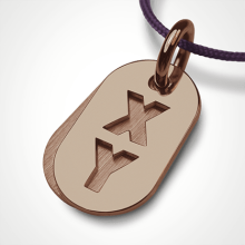 GENETIX BOY pendant in 750 pink gold by the jewellery collection for children MIKADO.