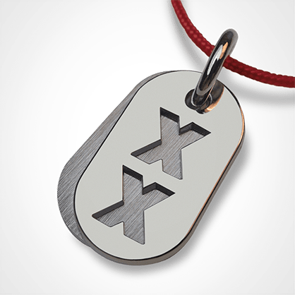 GENETIX GIRL pendant in 750 white gold by the jewellery collection for children MIKADO.
