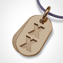 GENETIX GIRL pendant in 750 yellow gold by the jewellery collection for children MIKADO.
