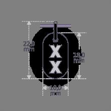 Dimensions du pendentif de baptême GENETIX GIRL de la collection de bijoux pour enfants MIKADO.